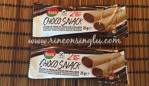 snacks sin gluten rellenos de cacao