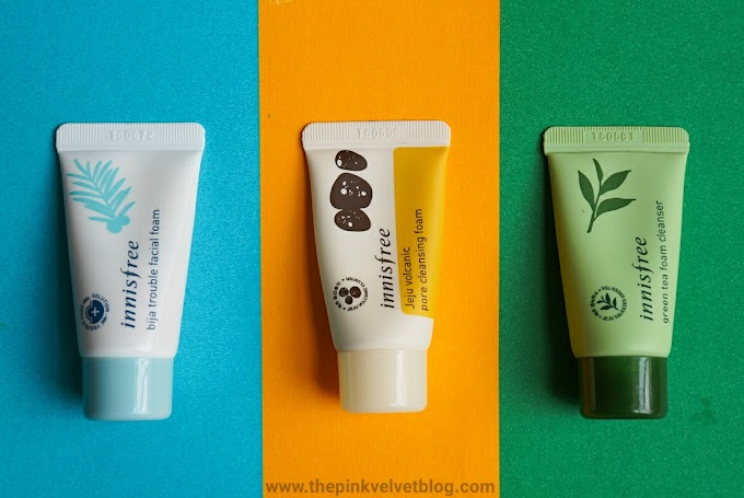 Innisfree Jeju Volcanic, Green Tea and Bija Trouble Foam Cleanser - Review