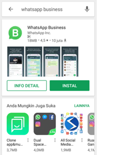 whatsapp for business dari google playstore