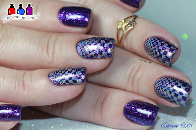 piCture pOlish, Lollipop, roxo, glitter, jelly, carimbada, Holográfico, 2014 Collaborations, halo hues, prata, harp on it, Color Club, Mony D07, Semana  piCture pOlish, Alquimia das Cores, ÜberChic