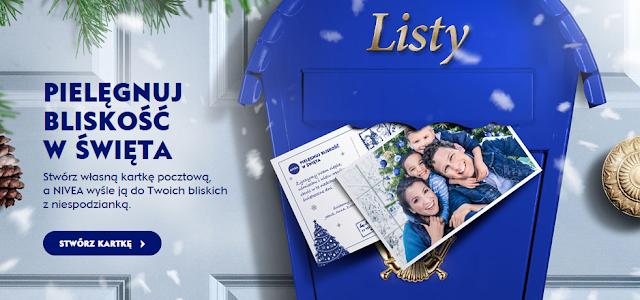 personalizowana kartka bożonarodzeniowa od nivea