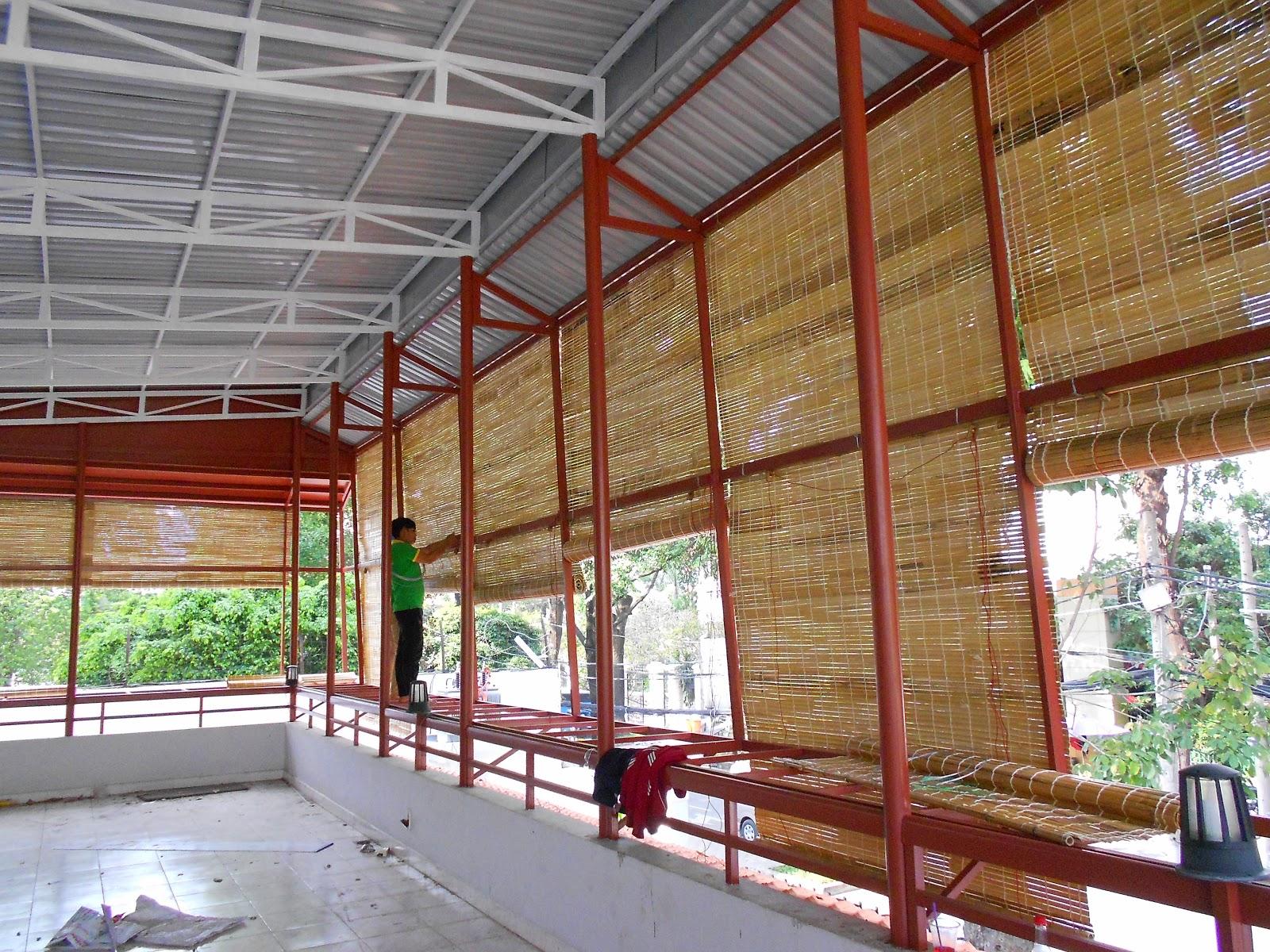 lắp đặt mành nứa quán cafe tại 81 Trần Quốc Thảo, Quận 3