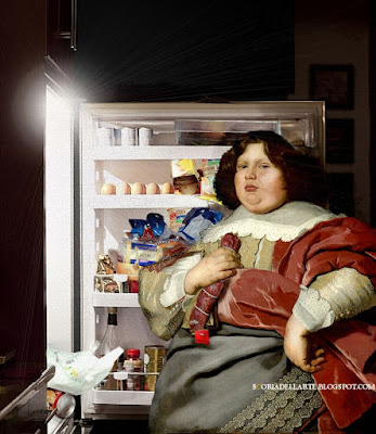 prova costume-fotomontaggi di dipinti classici nella vita contemporanea