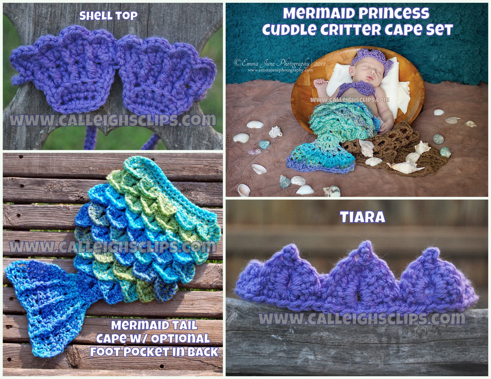 Calleighs Clips Crochet Creations Pre Sale Mermaid Princess