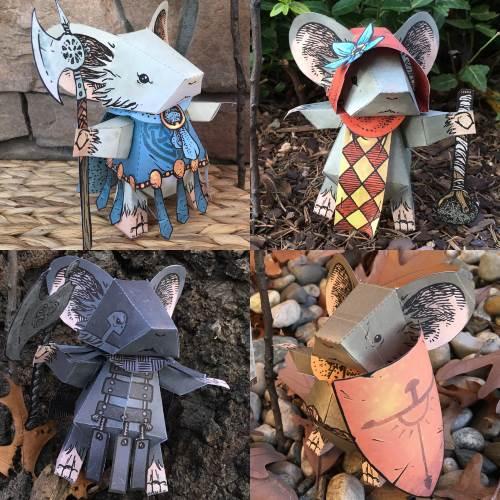 More Mouse Guard Paper Toys Tektonten Papercraft