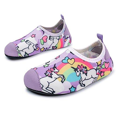ee655e9eaa78 L-RUN Kids Water Sports Shoes Boys Girls Summer Swim Beach Shoes Horse 9.5- 10 EU26-27 2019