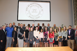 Montgomery Catholic Cross Country Teams Honored by Mayor Strange 1