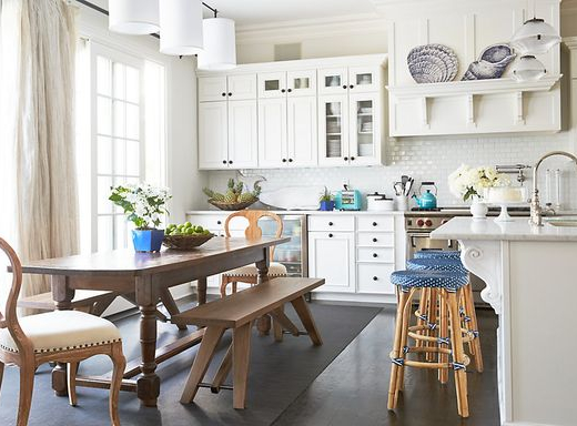 Blue and White Hamptons Kitchen at One Kings Lane
