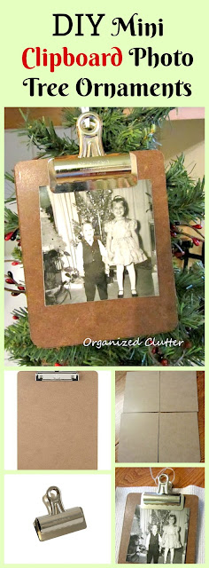 Mini clipboard ornaments CHRISTMAS Tree Ornaments www.organizedclutter.net