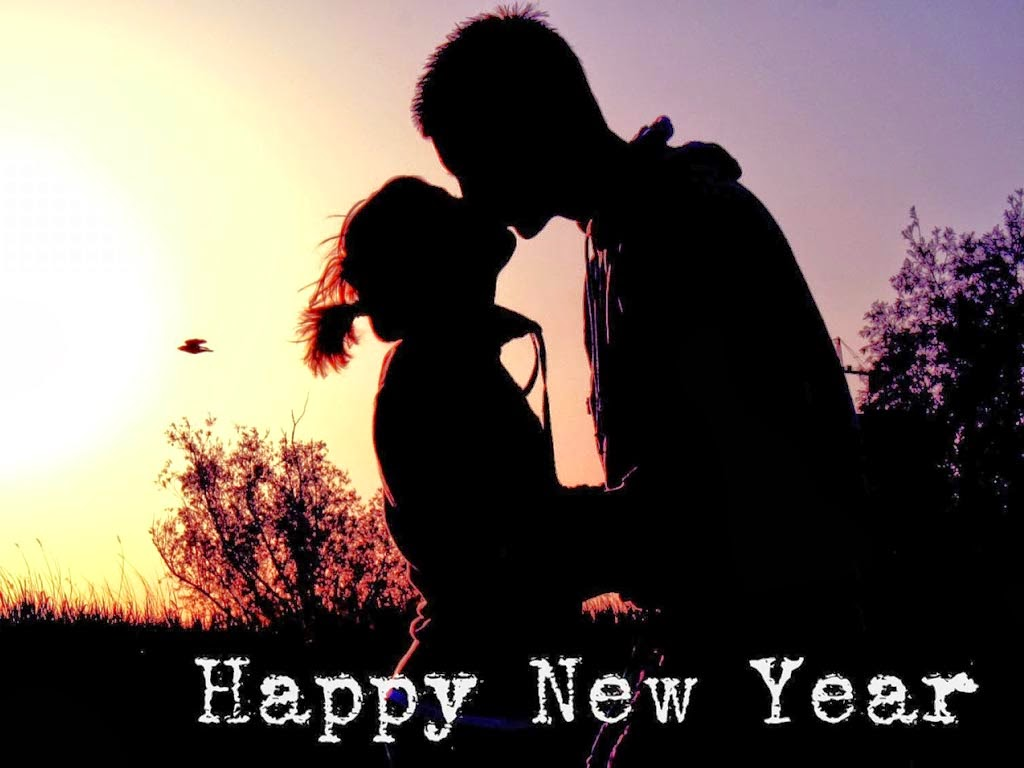 couple happy new year