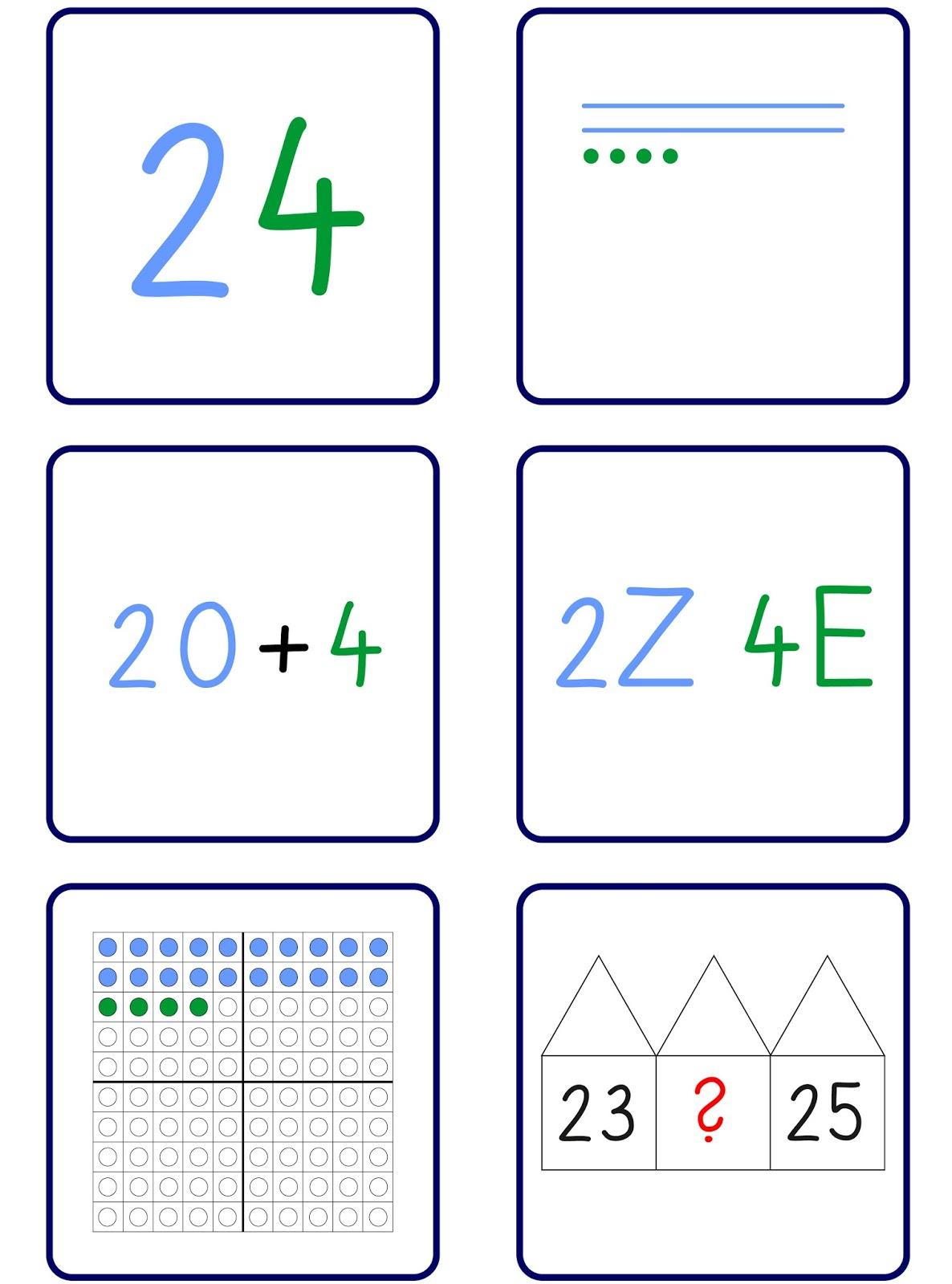 Lernstübchen: Zuordnungskarten in den Montessori-Farben