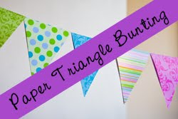 paper triangle banner (bunting) tutorial