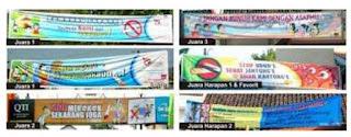 media kampanye spanduk, medialuar ruangan
