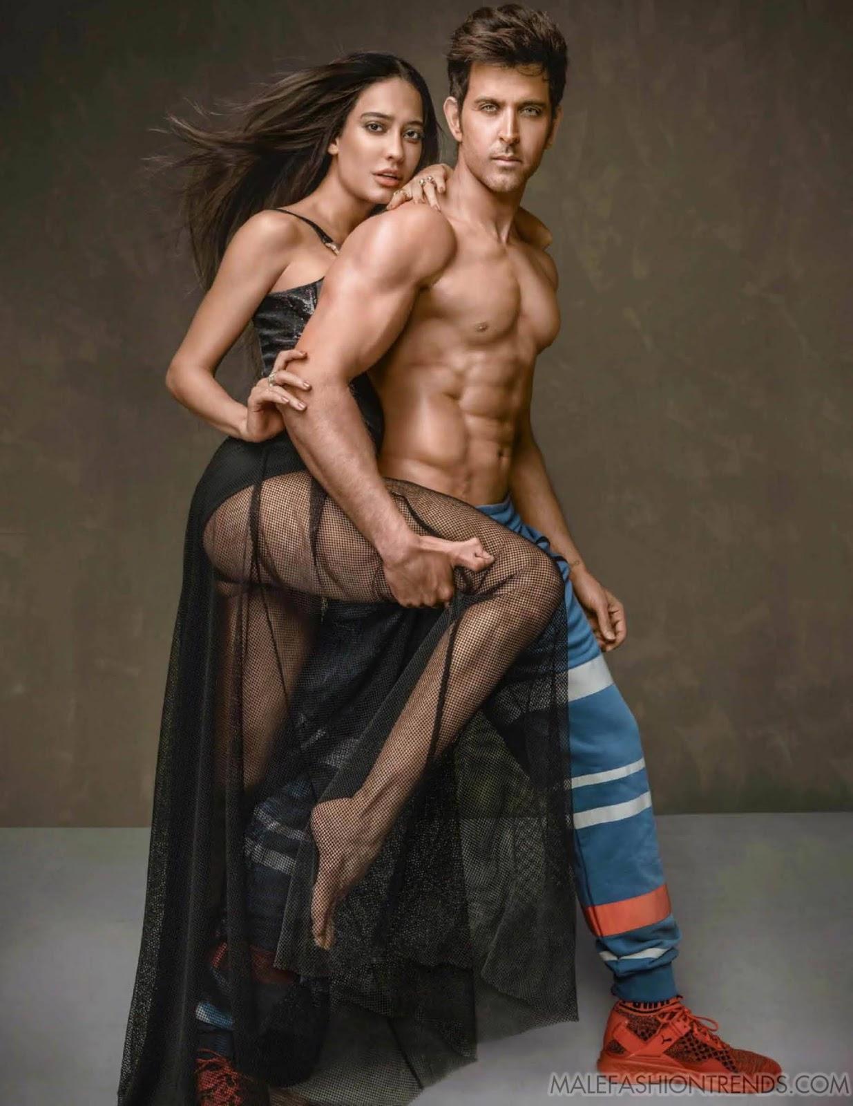 Hrithik Roshan y Lisa Haydon para Vogue India Enero por Errikos Andreou