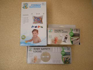 child safety items and bath storeage