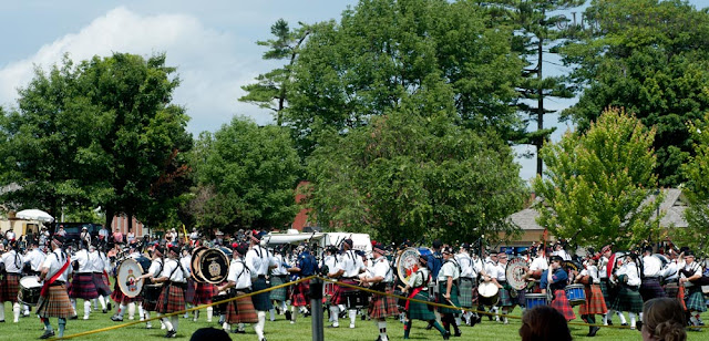 Part of the Mass Bands event at the opening of the Orillia Scottish Festival in 2015