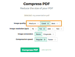 benefits of compressing and reducing pdf file size
