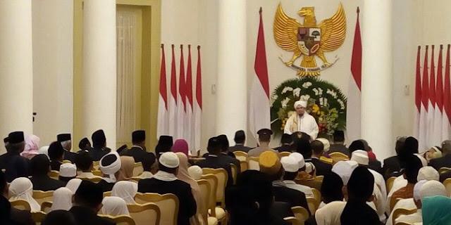 Presiden Jokowi Gelar Pengajian Maulid Nabi Muhammad SAW di Istana Bogor Bersama Habib Djindan Al-Fachriyah