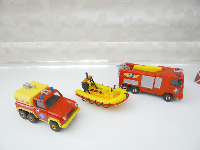 Fireman Sam Diecast Vehicles Set, toy cars, fire engine toy