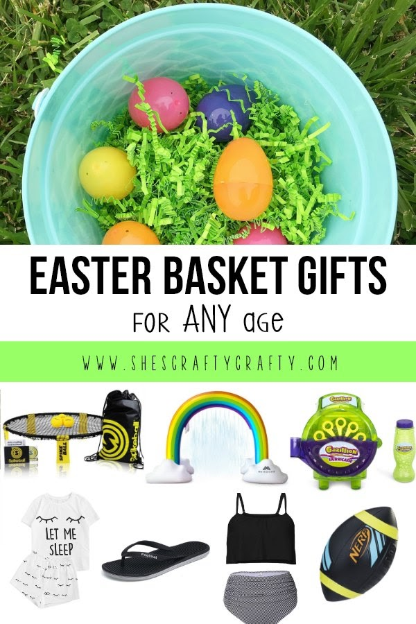 Easter Basket Gift Ideas for ANY age- lots of ideas for kids of all ages