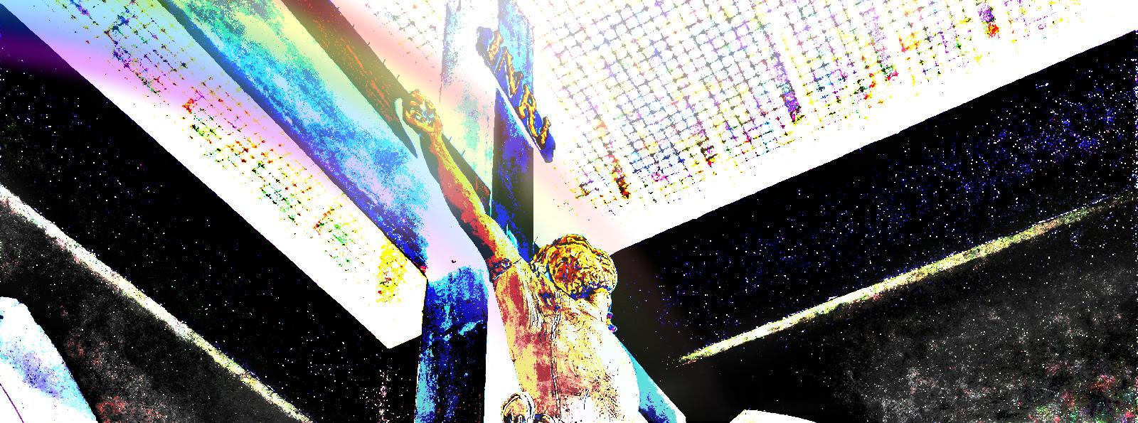 Jésus sur la croix Calvaire Hospice d'Havré