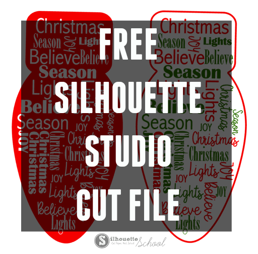 Free Silhouette Studio Cut file for Christmas word art download free design file