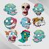Download Koleksi Kepala Zombie Vector Cdr dan Ai