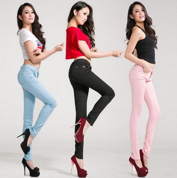 Artis korea cantik dengan jeans ketat warna-warni  cewek igo cantik
