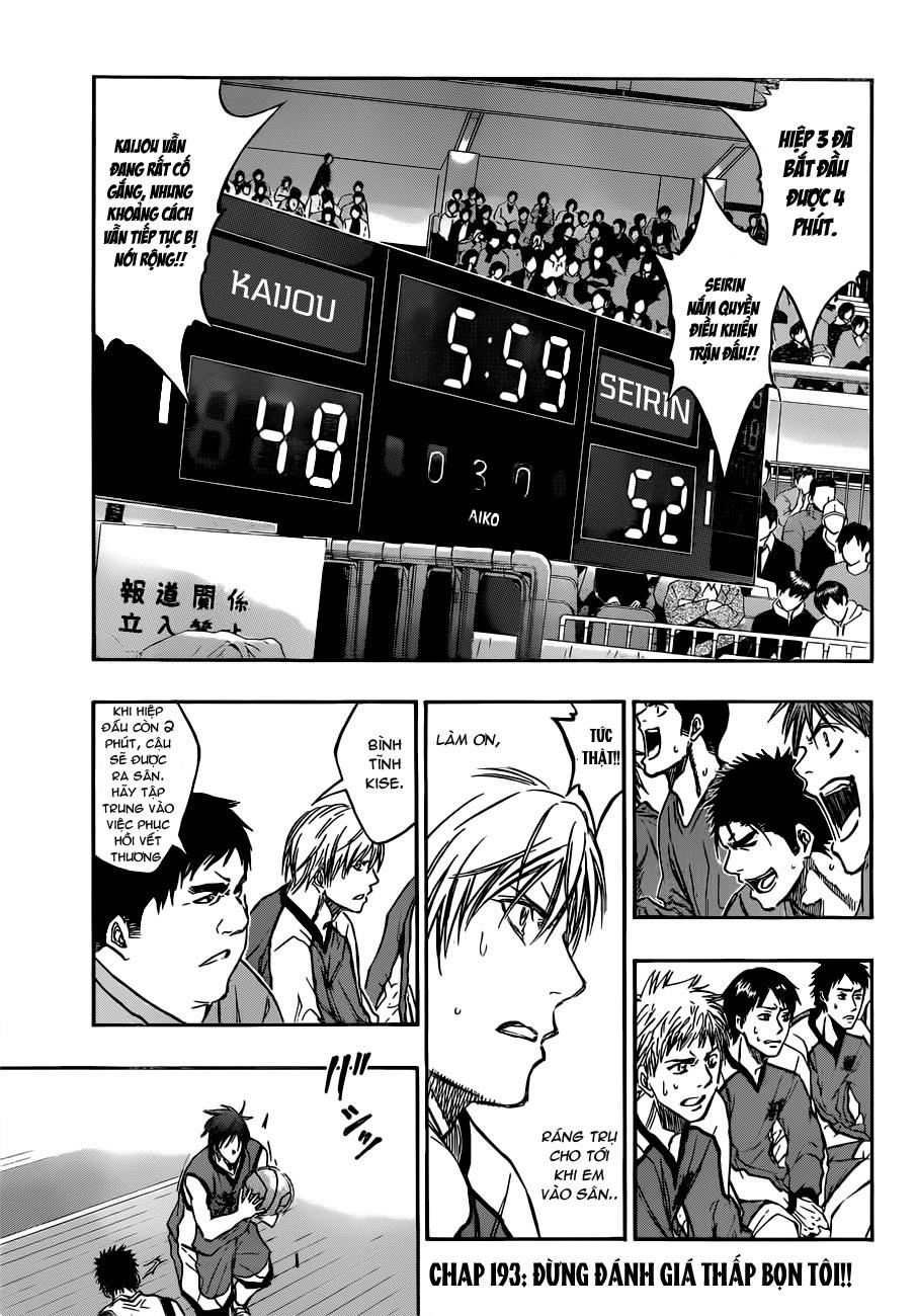 Kuroko No Basket chap 193 trang 3