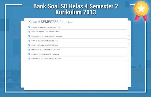 Bank Soal SD Kelas 4 Semester 2 Kurikulum 2013