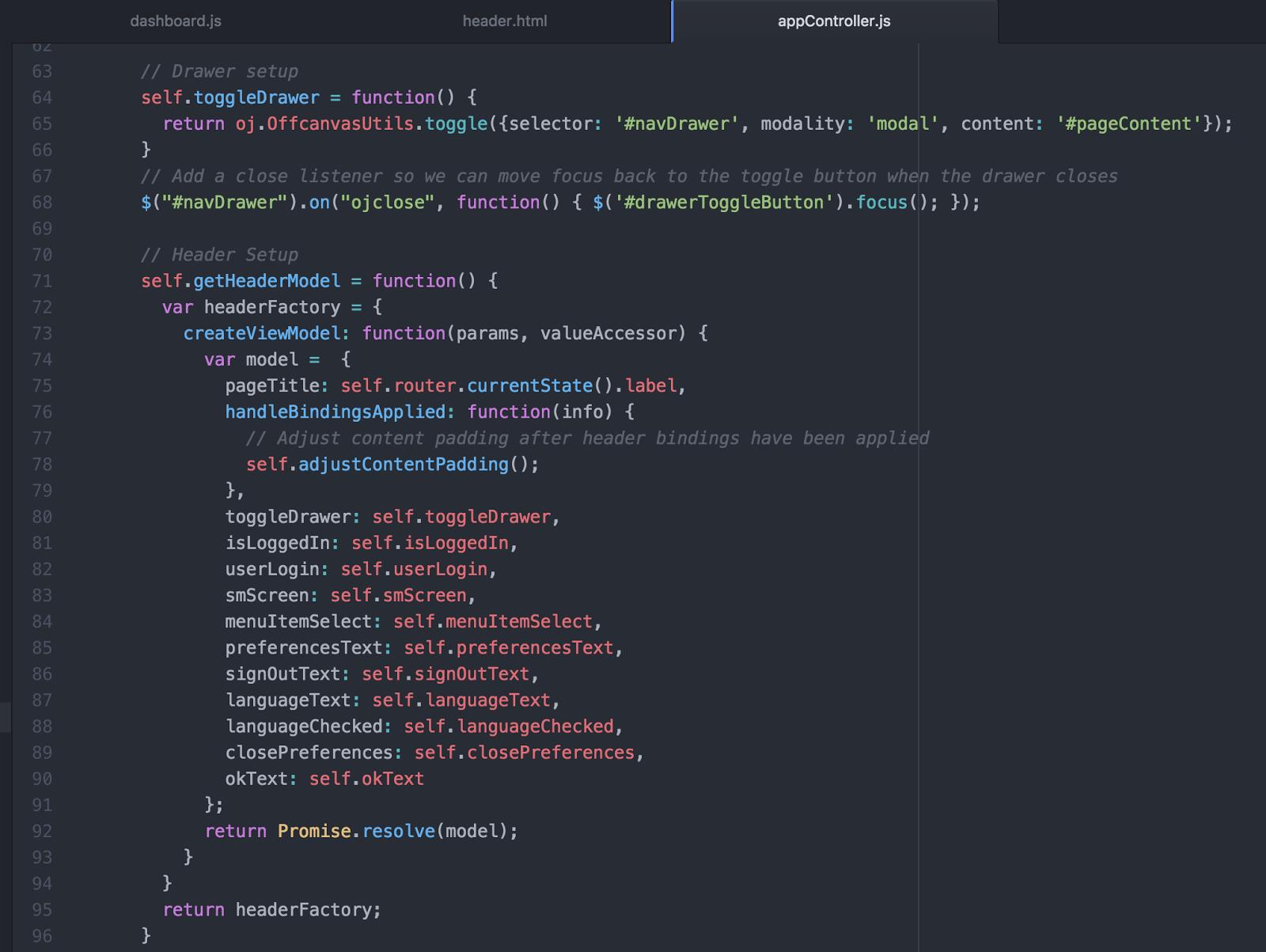html header menu templates - andrejus baranovskis blog oracle jet hybrid navdrawer