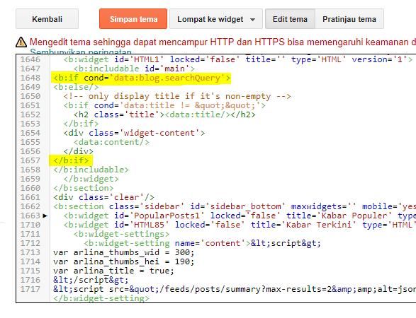 Cara Menyembunyikan Widget pada Halaman Pencarian