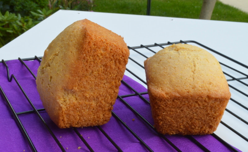 Eggless Cornmeal - Lime Cake