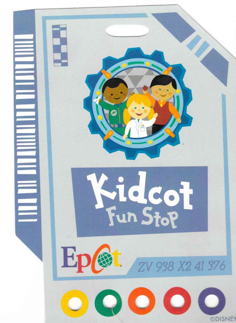 Kidcot Fun Spot Epcot Disney World Card