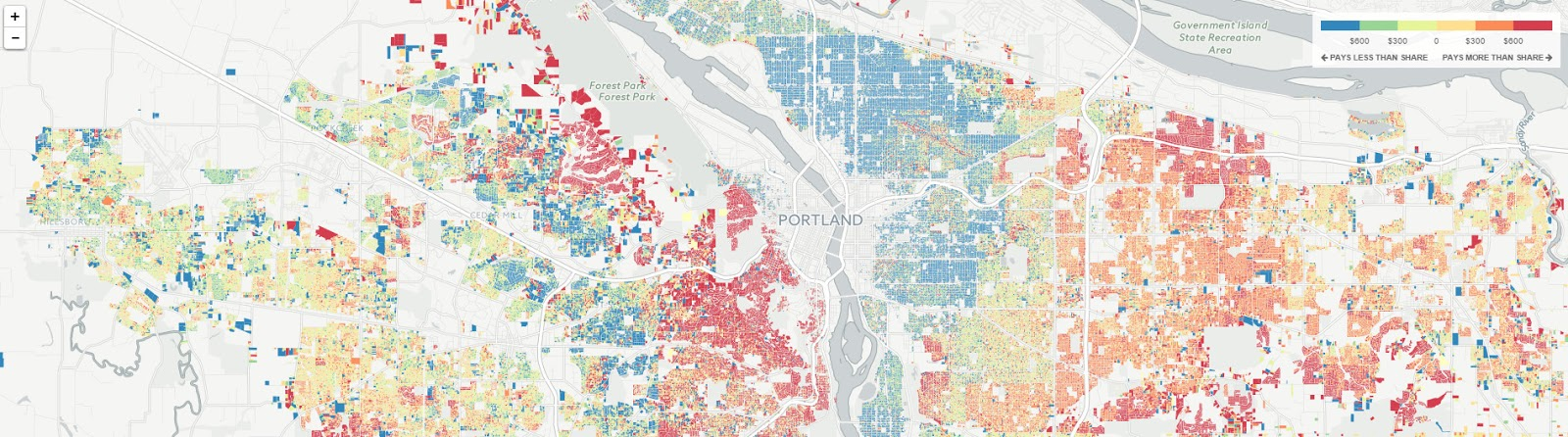 The property tax map