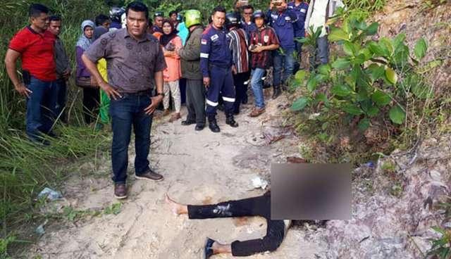 Penemuan mayat wanita yang  dibunuh lalu dibakar pacarnya.