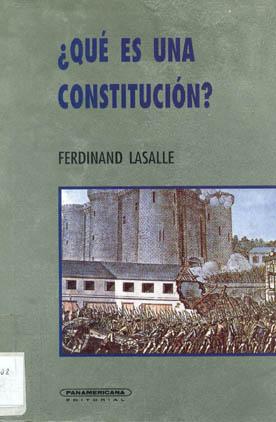 Que es una constitucion ferdinand lasalle