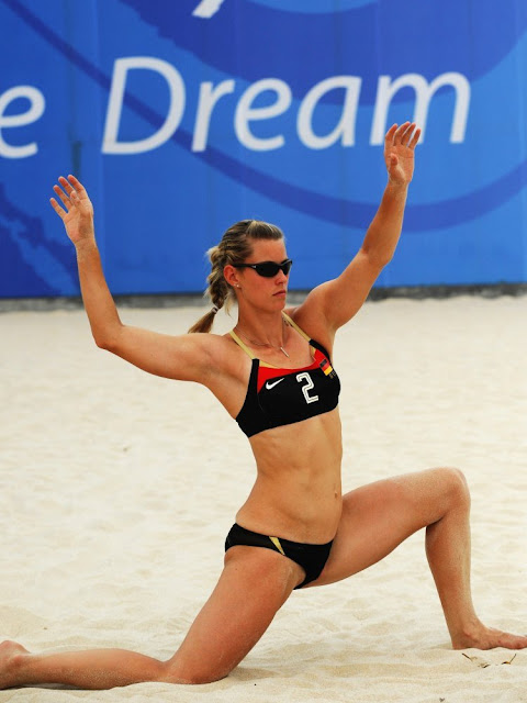 Female Beach Volleyball Cling Female Beach Volleyball -5702