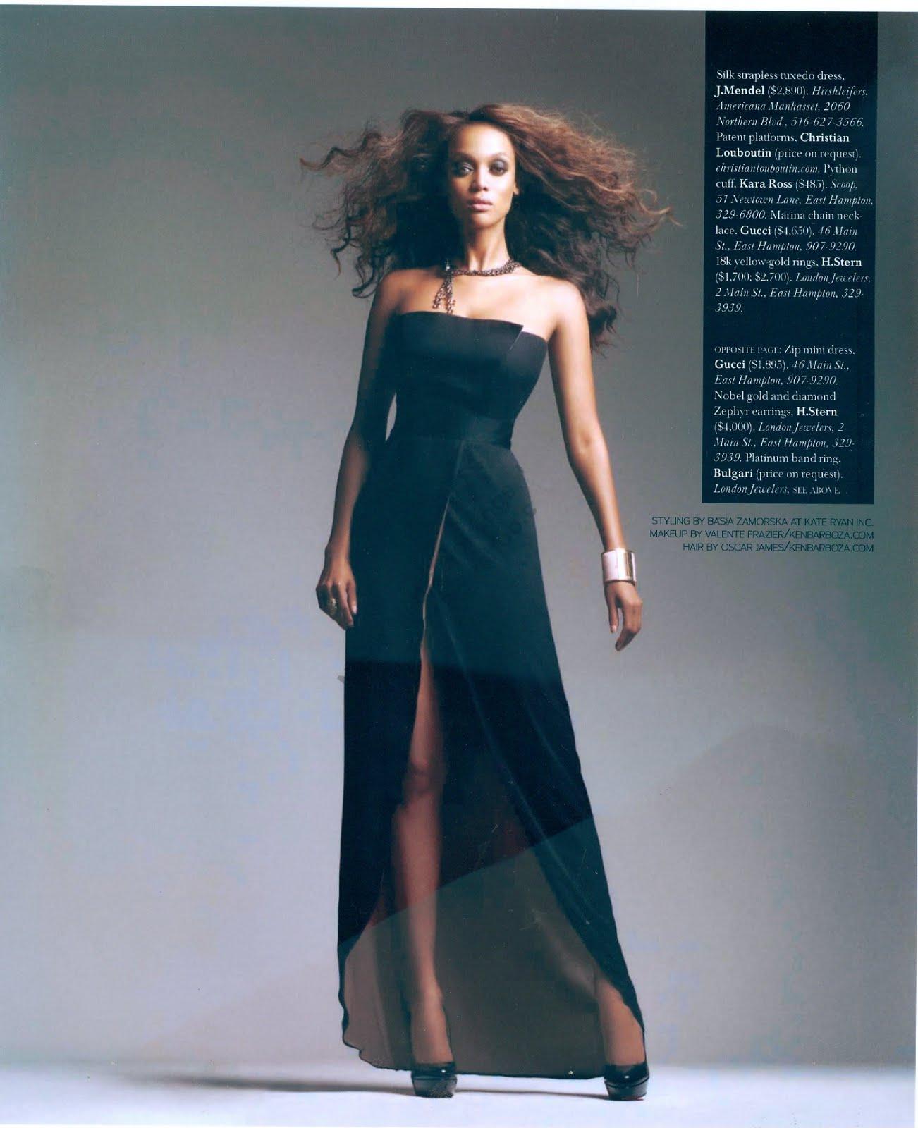 Tyra Banks Runway: Tyra Banks (Hamptons Magazine 2009)