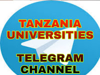 Ajira, Elimu, Tanzania Universities Telegram Channel