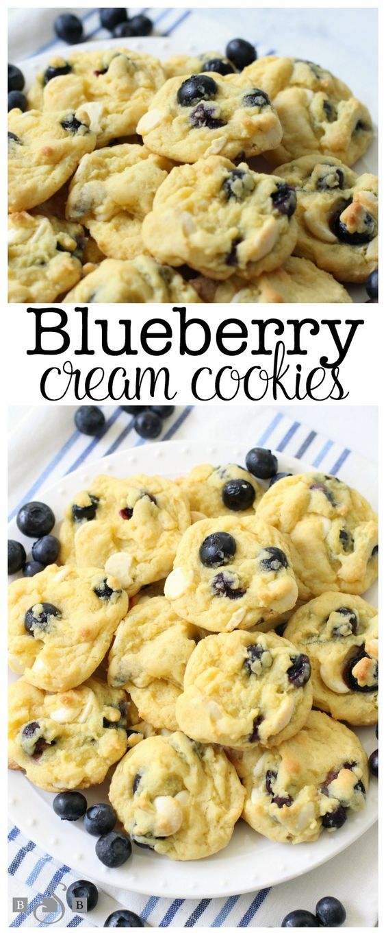 BLUEBERRY CREAM COOKIES