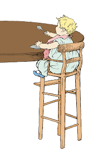 baby high chair clip art image