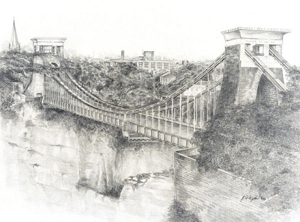 Bridge Workout Pics Clifton Suspension Bridge Drawing
