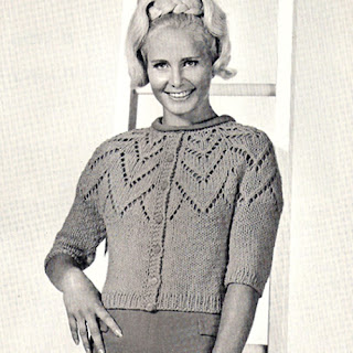 Knitted Petal Cardigan Sweater Pattern, Vintage 1950s