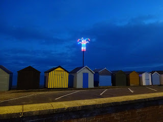 Christmas decoration on the seafront in Felixstowe