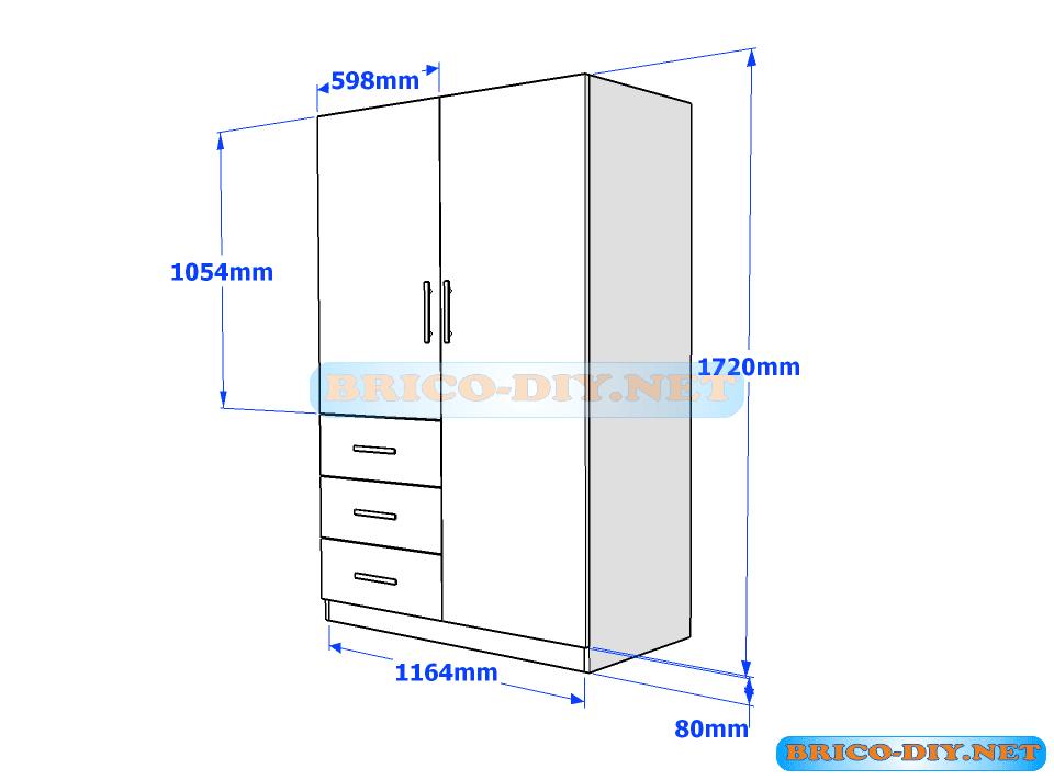 plano-madera-melamina-ropero