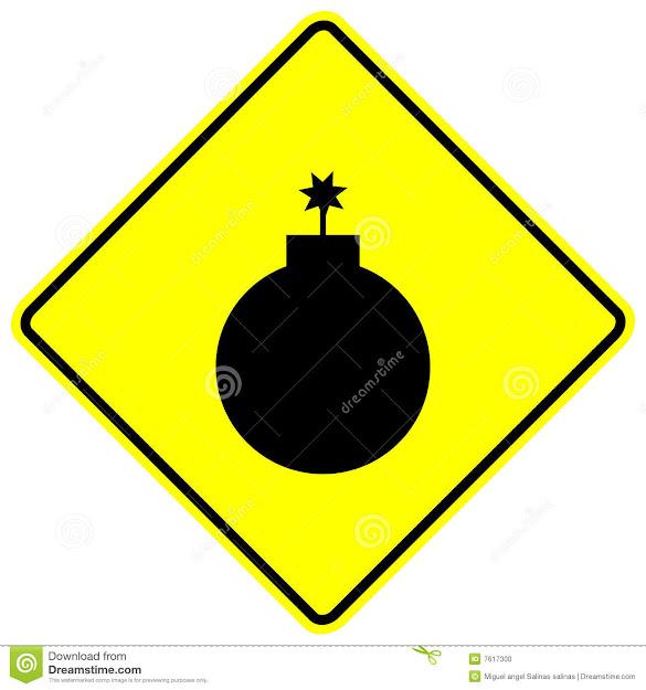 Bomb Vector Sign Stock Photo