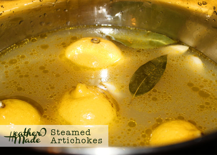 tyler florence's steamed artichokes. heatheromade.