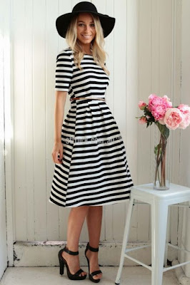 St Frock, dress, stripes, striped dress, sleeves