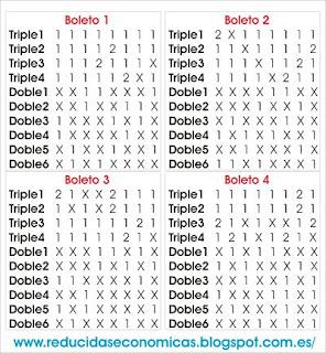 Quiniela Reducida de 4 Triples y 6 Dobles por 32 Apuestas
